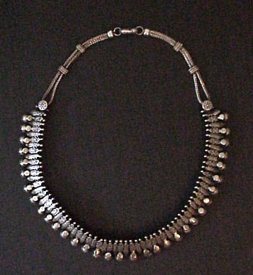 Silver necklace choker india sold aloadofball Images